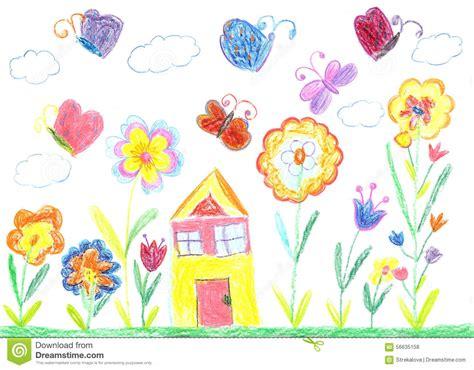 simple 2 house plans dessin d 39 enfant d 39 une maison photo stock image 56635158