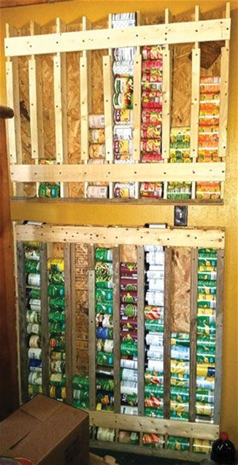 homestead survival build  vertical food storage rack  cans project diy http