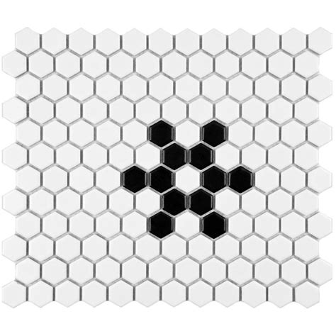 home depot merola hex tile merola tile metro hex matte white with snowflake 10 1 4 in