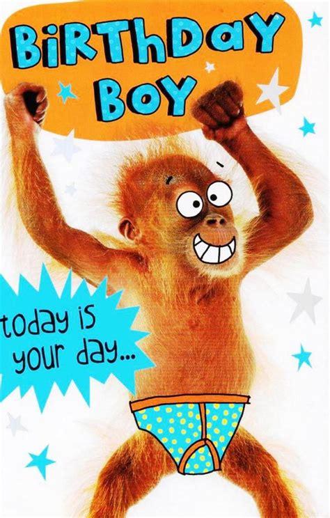 funny birthday boy  bananas birthday card funny
