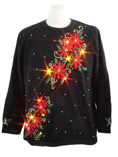 lightup ugly christmas sweater basic editions unisex