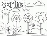 Coloring Spring Pages Happy Popular sketch template