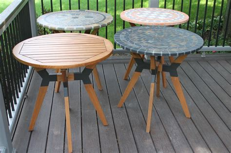 rustic slate mosaic bistro table top  mixed