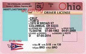 Template ohio drivers license editable photoshop file psd for Ohio drivers license template