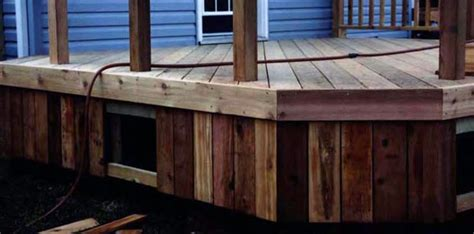 Diy Deck Skirting Ideas by Skirts Skirt Installation Diy Deck Plans