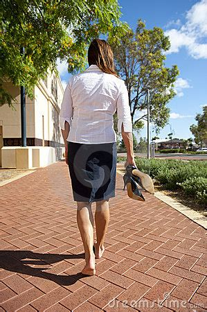 business woman bare feet royalty  stock photo image