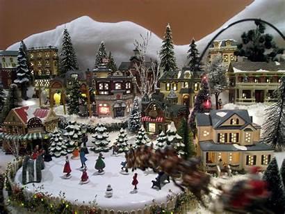 Santa Village Christmas Delight Reindeer Flying Claus