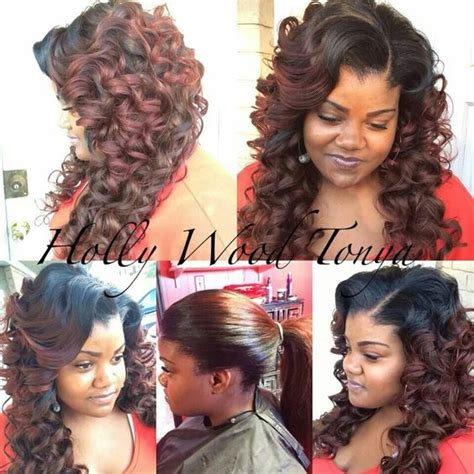 Pull Up Sew In Hairstyles by Pull Up Sew In With Wand Curls Hair Styles