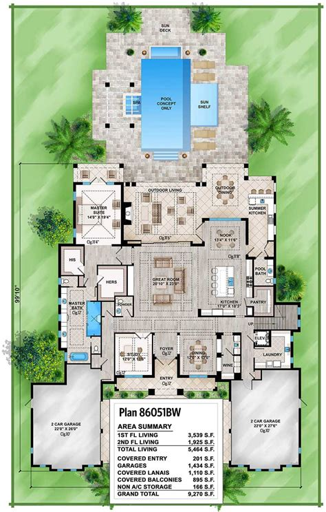 spacious tropical house plan bw architectural designs house plans