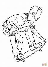 Skateboard Coloring Skateboarding Pages Hawk Printable Drawing Board Tony Ramp Drawings Getdrawings Template sketch template