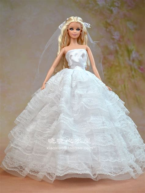 doll wedding dresses white wedding dress clothes for doll in dolls