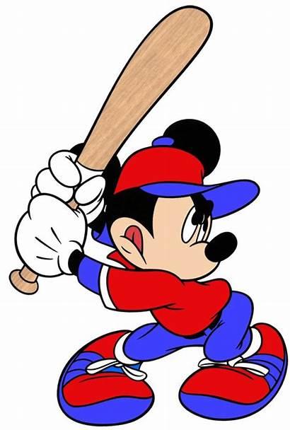 Baseball Mouse Clipart Ball Cartoon Mickey Disney