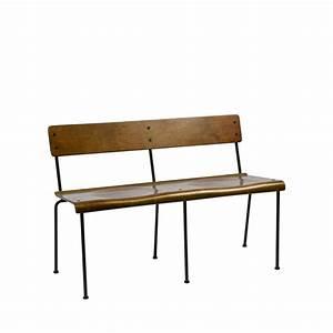 Banc Ecolier Vintage : banc design style colier bois teach by drawer ~ Teatrodelosmanantiales.com Idées de Décoration