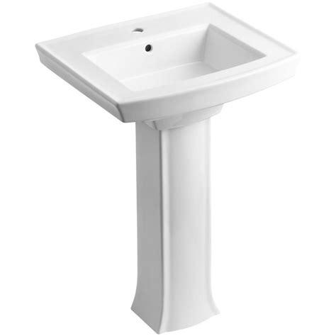 Kohler Bathroom Pedestal Sinks kohler archer vitreous china pedestal combo bathroom sink