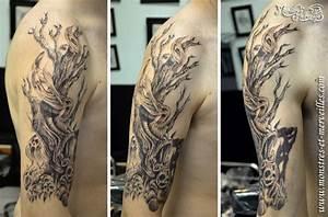 Tatouage Arbre Japonais : tatouage homme arbre bras tuer auf ~ Melissatoandfro.com Idées de Décoration