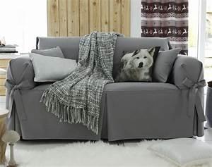 Housse Canapé Sans Accoudoir : housses nouettes pour fauteuil ou canap becquet ~ Nature-et-papiers.com Idées de Décoration