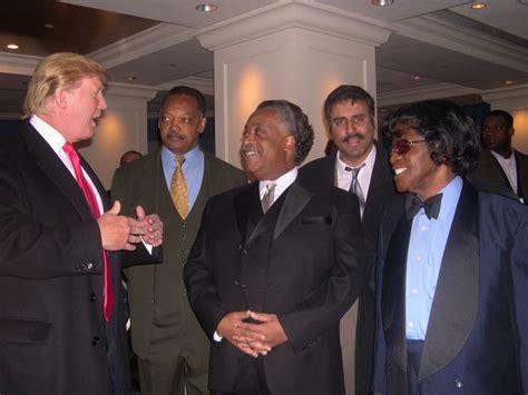 trump sharpton donald al jackson james jessie brown jesse dr leaders abbey rights civil blacks president rev supporters phone racist