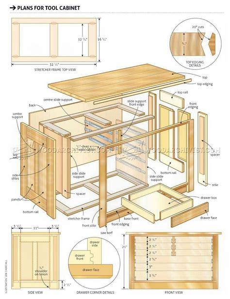 tool cabinet plans woodarchivist