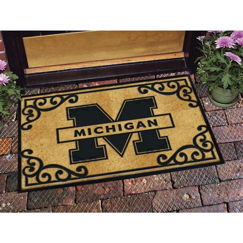 college team coir rubber door mat 47990 sports fan