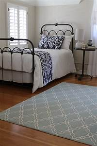 Iron Bed, Blue and White Bedding, Anthropologie Style