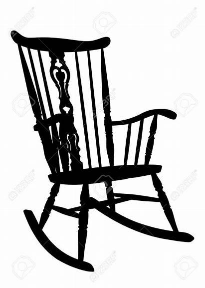 Rocking Chair Clipart Chairs Adirondack Silhouette Cartoon