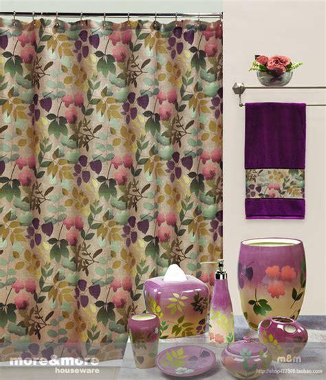retro flower floral fabric bathroom bath shower curtain
