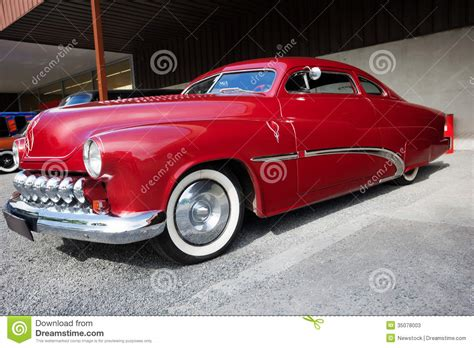 Side View Of American Classic Car Stock Image