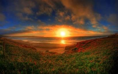 Horizon Sunset Nature Wallpapers Sundown Sun Sunsets
