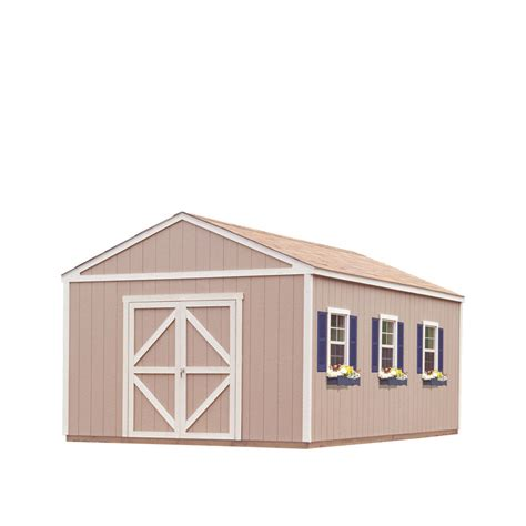 Heartland Storage Shed Doors by Shop Heartland Diy Diplomat 12 X 20 Wood Storage Building