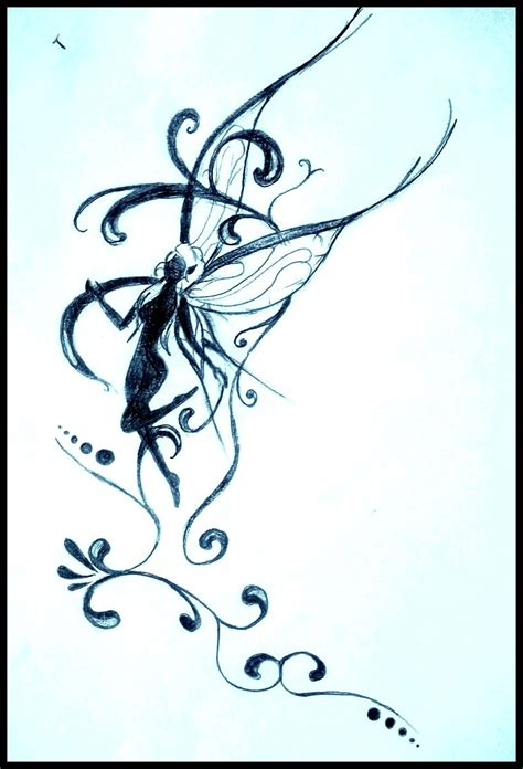 Fée Dessin, Crayon, Drawing, Tatouage, Tattoo, Fairy