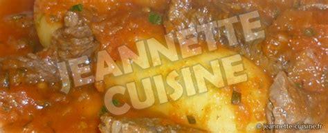 jeannette cuisine ragoût de pommes de terre au bœuf plat jeannette cuisine