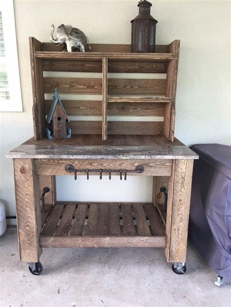 built  potting bench   wife