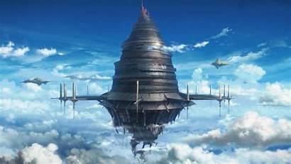 Sword Aincrad Windows Sao Castle Floating Sky