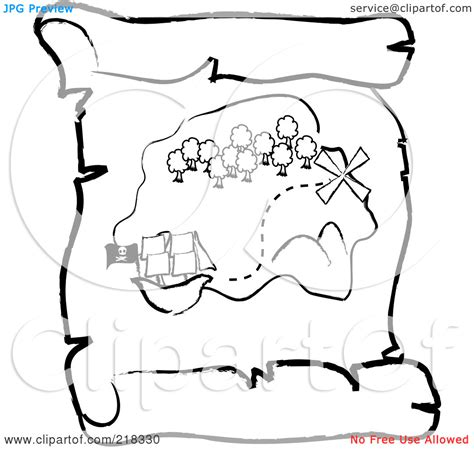 treasure map outline clipart   cliparts