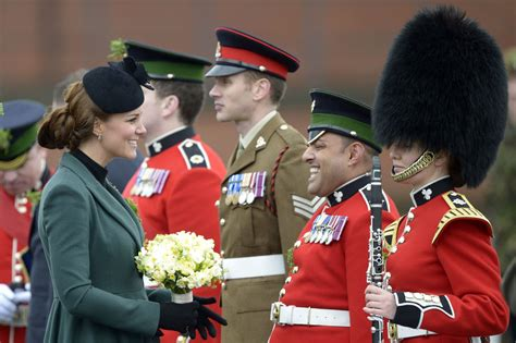 kate middleton recycles green coat  st patricks day