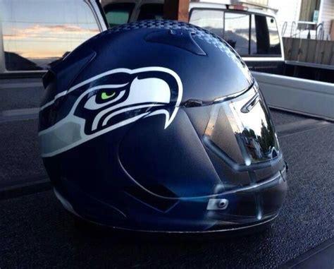 nfl themed motorcycle helmets  love  football