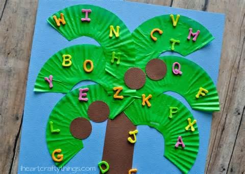 Chicka Chicka Boom Boom Tree Craft