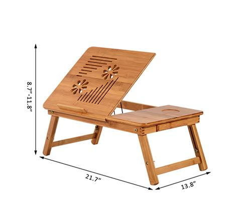 foldable bamboo laptop stand lapdesk notebook desk cooling