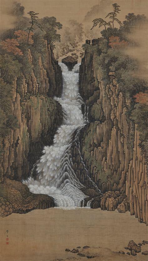Sugitani Sessho (1827-1895)   Nachi Falls   Japanese ...