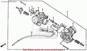Honda Vt750c Shadow 750 1983 Usa Carburetor Assy