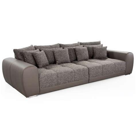 grand canapé droit grand canapé droit byouty 4 places taupe en similicuir et