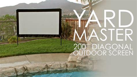 elite screens yard master  outdoor projection screen
