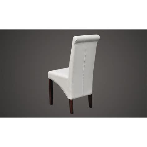 chaise simili cuir la boutique en ligne chaise antique simili cuir blanc lot