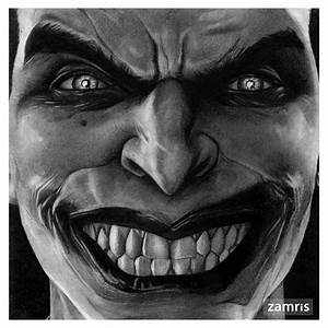a pencil drawing of the Joker from Batman Arkham Origins ...