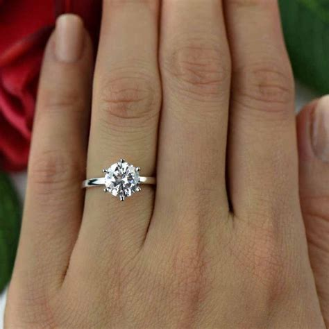 Etsy 2 Ct Classic Solitaire Engagement Ring, Man Made. English Rings. Hidden Heart Engagement Rings. Alexis Bittar Rings. Duke Rings. Hazeline Engagement Rings. 18k Rings. Classic Wedding Wedding Rings. Connected Wedding Rings