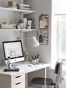Kleines Büro Einrichten Ideen : die besten 25 ikea schreibtisch ideen auf pinterest ~ Lizthompson.info Haus und Dekorationen
