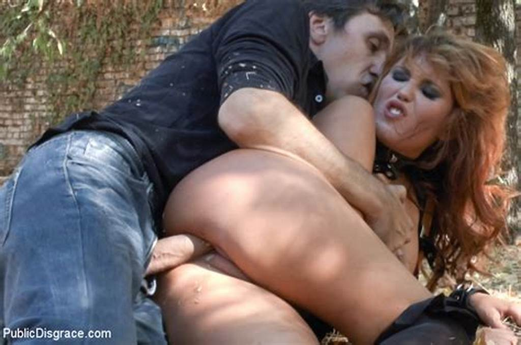 #Euro #Trash #Street #Whore #Hanna #Montada, #With #Hands #Bound