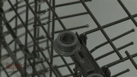 ge dishwasher dish rack roller replacement  wdx youtube
