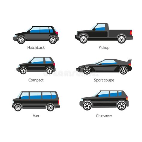 Different Types Of Vehicles Stock Vector