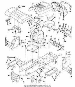 Poulan Pp14542k Tractor Parts Diagram For Chassis And